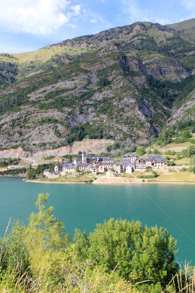 Lanuza village lake Huesca Pyrenees Spain Stock photo © lunamarina
