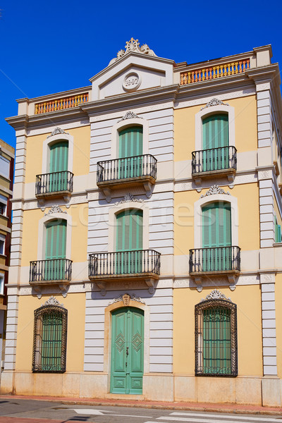 Lloret de Mar mediterranean facade in Costa Brava at Catalonia  Stock photo © lunamarina