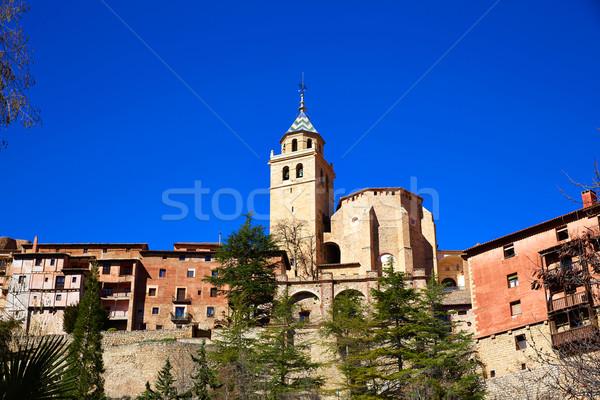 Középkori város Spanyolország fal utca világ Stock fotó © lunamarina