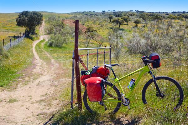 Bike at Saint James Way in via de la Plata Stock photo © lunamarina