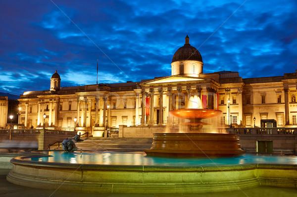 Лондон квадратный фонтан закат Англии небе Сток-фото © lunamarina