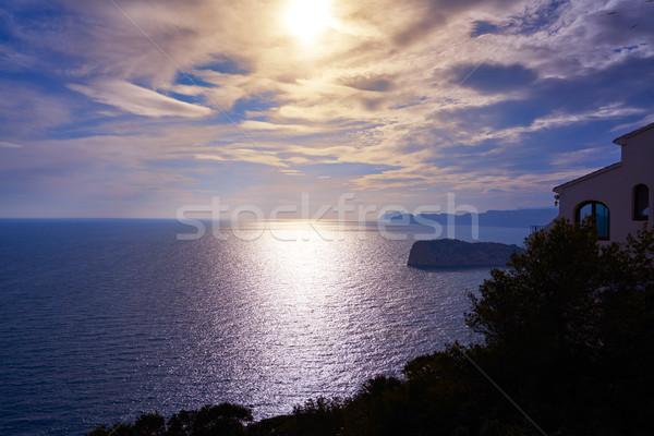 キャップ ラ 日没 地中海 海 ビーチ ストックフォト © lunamarina