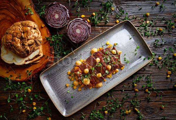 Jacks beef with corn USA recipe Stock photo © lunamarina