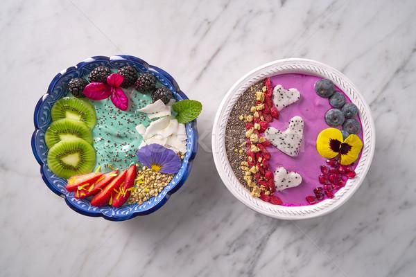 Stock fotó: Tál · smoothie · tálak · egészséges · reggeli · magok