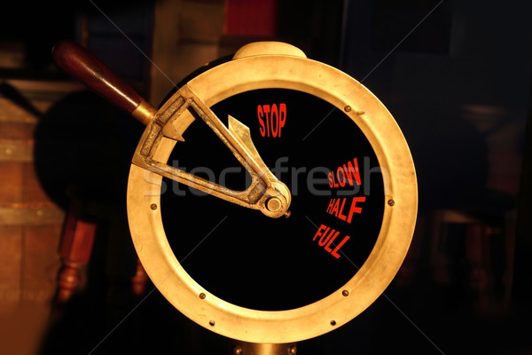 ancient boat brass power control Stock photo © lunamarina