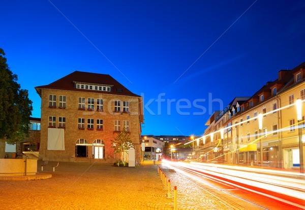 Stad zonsondergang Duitsland zomer reizen gebouwen Stockfoto © lunamarina
