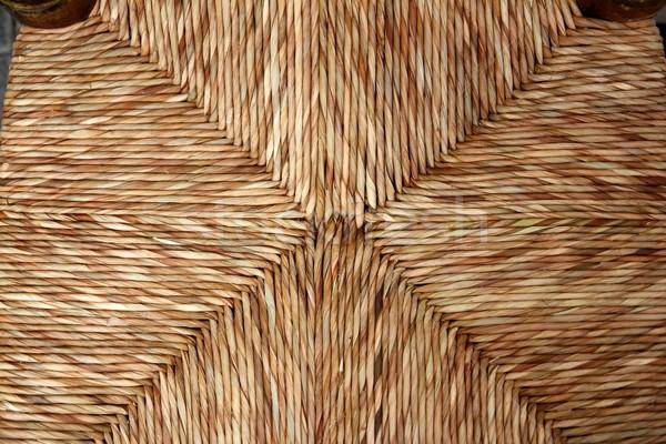 enea chair seat traditional dried reeds grass handcrafts Stock photo © lunamarina