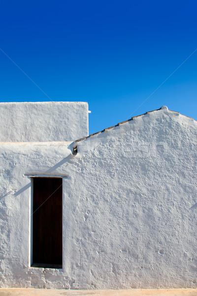 Ibiza Santa Agnes whitewashed houses Stock photo © lunamarina