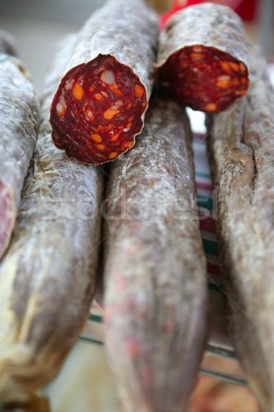 Vermelho calabresa mediterrânico mercado Espanha textura Foto stock © lunamarina