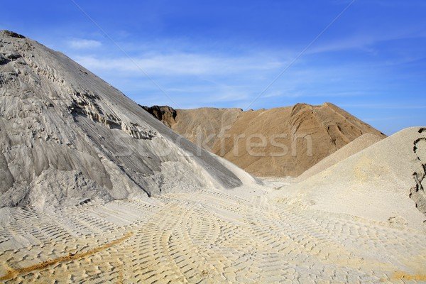 sand quarry mounds of varied sands color Stock photo © lunamarina