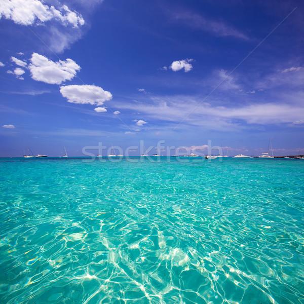 Formentera Cala Saona beach Balearic Islands Stock photo © lunamarina
