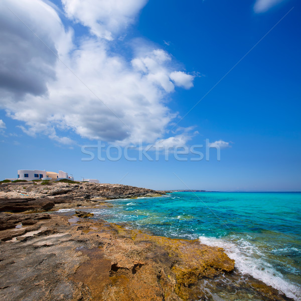 Es calo Escalo de sant Agusti Beach in Formentera Stock photo © lunamarina