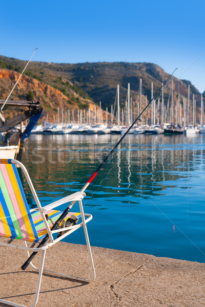 Javea in alicante fisherboats in Mediterranean sea Stock photo © lunamarina