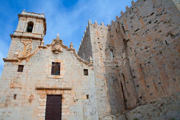 Peniscola virgen de Santa Maria church facade Castellon Stock photo © lunamarina