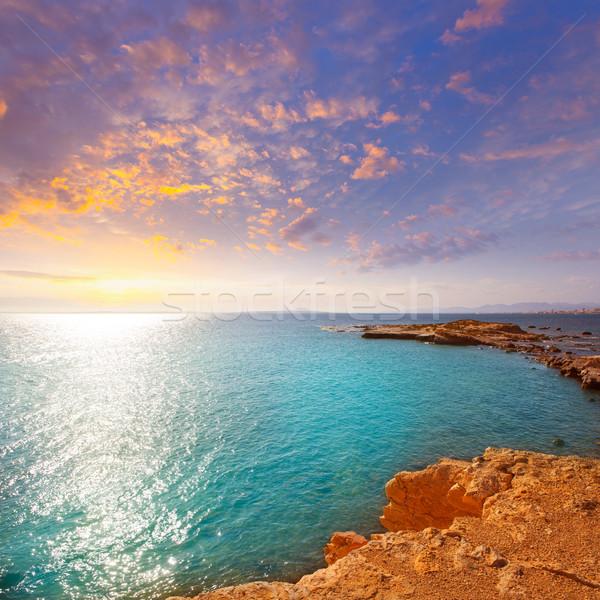 Stock photo: tabarca island alicante mediterranean blue sea