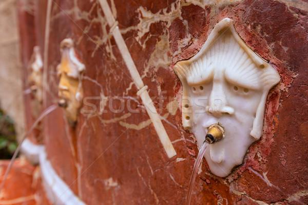Valencia szökőkút templom Spanyolország utca háttér Stock fotó © lunamarina