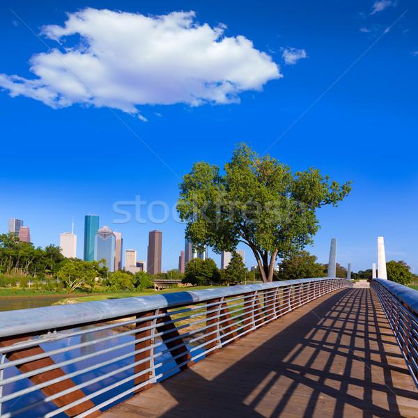 ヒューストン スカイライン 公園 テキサス州 米国 空 ストックフォト © lunamarina