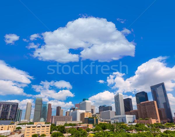 Houston sziluett dél Texas tájkép utazás Stock fotó © lunamarina