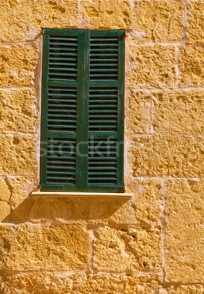 Alcudia Old Town wood shutters Mallorca Stock photo © lunamarina
