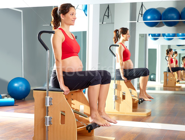 pregnant woman pilates leg pumps exercise wunda Stock photo © lunamarina