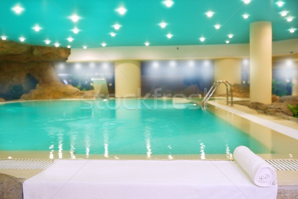 spa indoor turquoise water white towel Stock photo © lunamarina