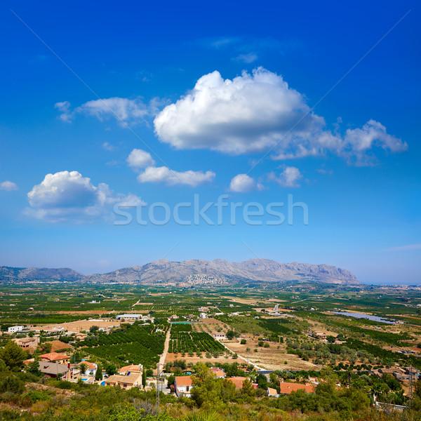 Segaria mountains from Benidoleig in Alicante Stock photo © lunamarina