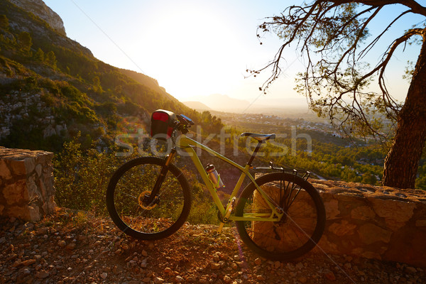 Mountain bike MTB sunset in Denia at Montgo Stock photo © lunamarina