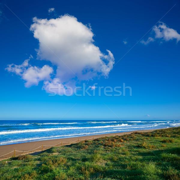 Plaj Valencia İspanya deniz okyanus seyahat Stok fotoğraf © lunamarina