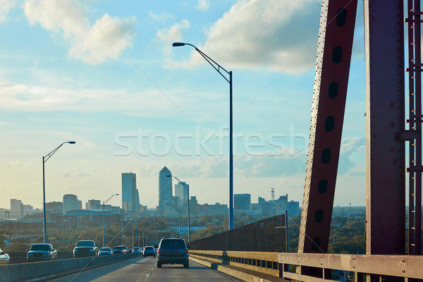 Köprü Florida ABD ufuk çizgisi Bina şehir Stok fotoğraf © lunamarina