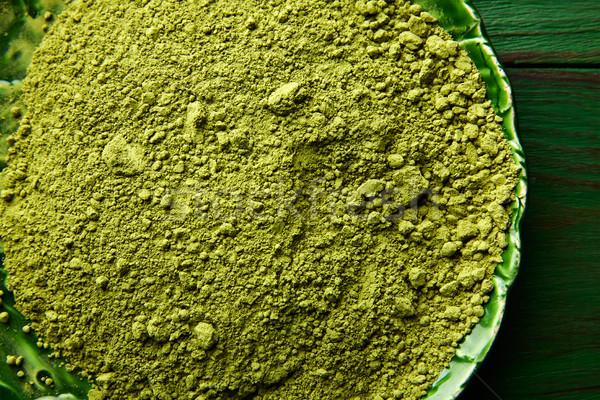 Matcha tea powder for japanese ceremony Stock photo © lunamarina