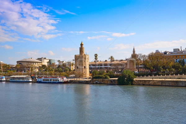 Seville Torre del Oro tower in Sevilla Spain Stock photo © lunamarina