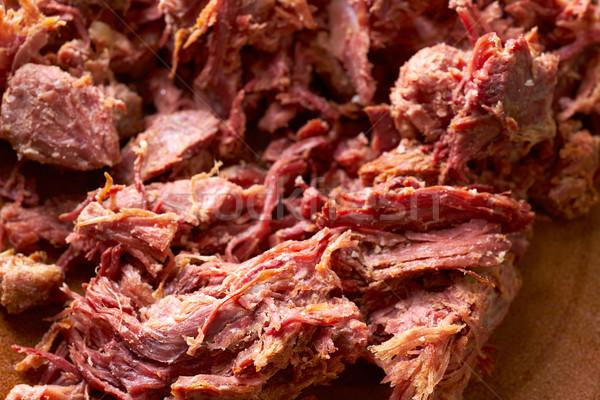 Kaczka mięsa tekstury szczegół drewna Zdjęcia stock © lunamarina