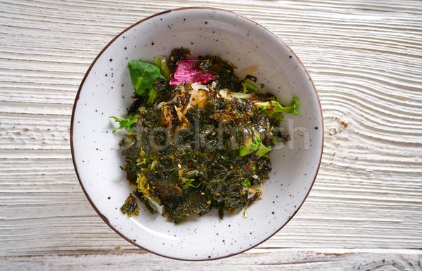 Nori algae asian salad soya sprouts gado-gado Stock photo © lunamarina