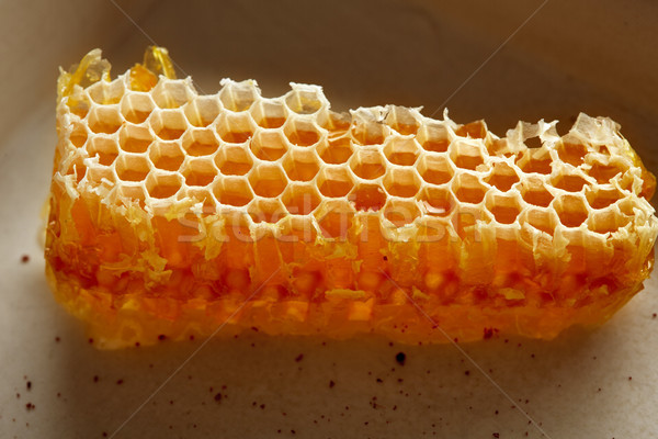 Miodu plaster miodu szczegół makro tekstury charakter Zdjęcia stock © lunamarina