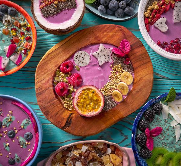 Puchar pochlebca jagody owoce zdrowa żywność zdrowia Zdjęcia stock © lunamarina