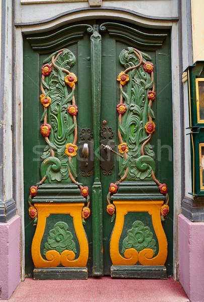 Colorato porta Germania verde arte estate Foto d'archivio © lunamarina