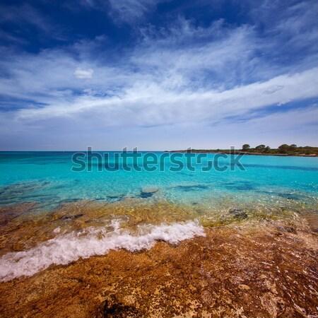 Stock photo: escalo es calo Formentera north rocky coast aqua