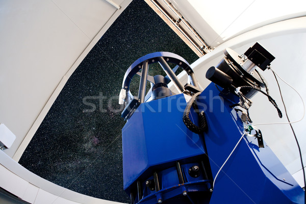 Stock photo: astronomical observatory telescope indoor night
