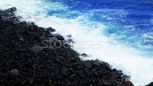 Atlantic volcanic black coast in la Palma Stock photo © lunamarina