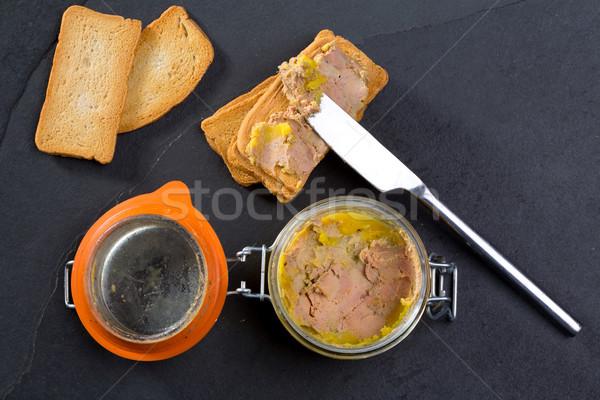 Canard Foie gras Pate made of the liver of a duck Stock photo © lunamarina