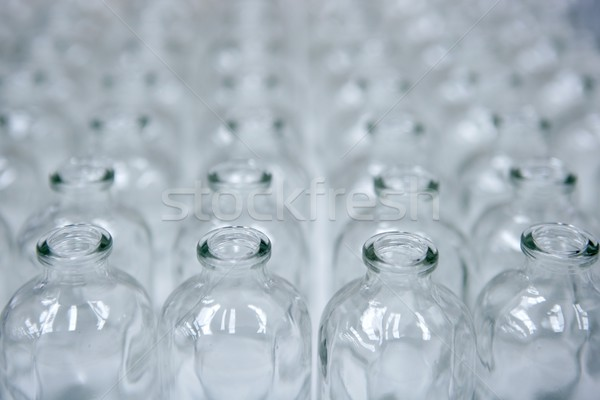 Glass transparent empty bottles assembly line Stock photo © lunamarina