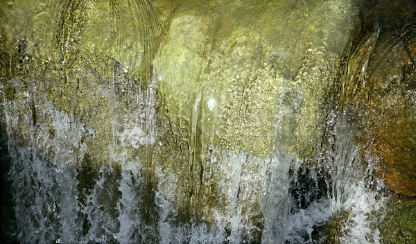 Stock photo: River green waterfall texture