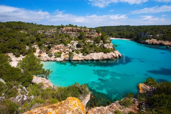 Foto stock: Turquesa · mediterráneo · mar · sol · paisaje · fondo