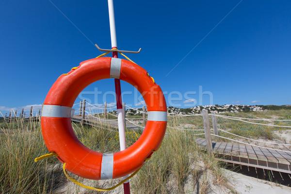 Alaior Cala Son Bou in Menorca round buoy at Balearic Stock photo © lunamarina