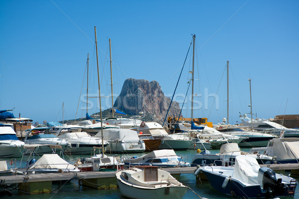 Jachthaven boten berg middellandse zee zee Spanje Stockfoto © lunamarina