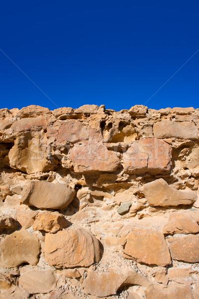 Tabarca Island battlement fort masonry wall detail Stock photo © lunamarina