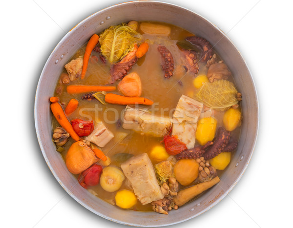 Octopus stew from mediterranean recipe Stock photo © lunamarina