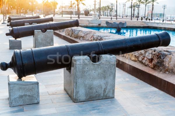 Cartagena cannon Naval museum port at Spain Stock photo © lunamarina