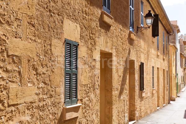 Foto stock: Cidade · velha · mallorca · ilha · Espanha · edifício · rocha