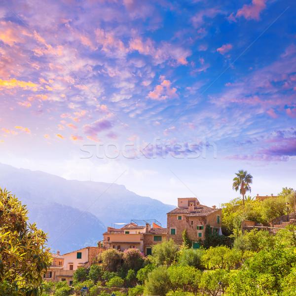 Fornalutx village in Majorca Balearic island Stock photo © lunamarina